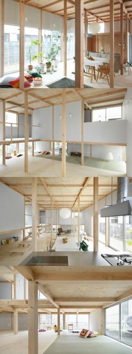 日本80平米的木质独立住宅