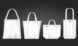精致环保的白色购物袋素材下载