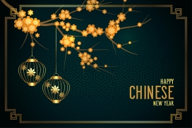 中式元宵节灯笼树素材下载
