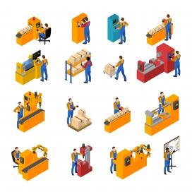 物流企业货运搬运工素材下载