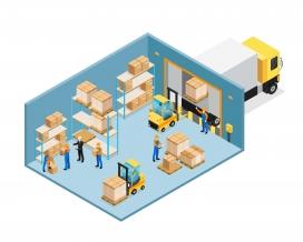 物流货运仓储结构解剖图AI文件下载