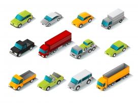儿童类卡通玩具车素材