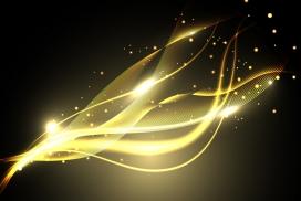 金色绚丽的金箔笔刷光芒素材