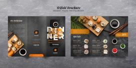 高级的日式寿司料理菜谱素材下载