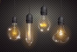 不同造型的钨丝灯泡素材