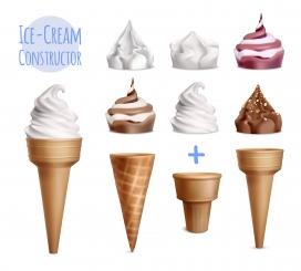 巧克力冰淇淋素材下载