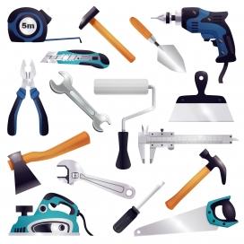 建筑装修木工具组套素材下载