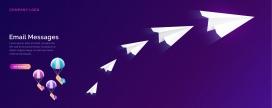 飞翔的纸飞机素材