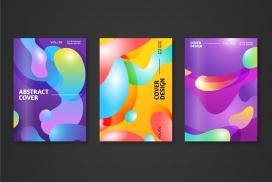 抽象渐变形状的卡片素材