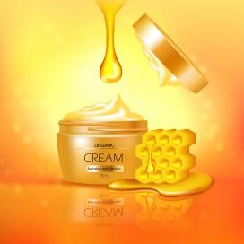 金黄色奶油蜂蜜罐素材下载