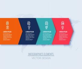 创意横幅信息图表步骤箭头概念设计