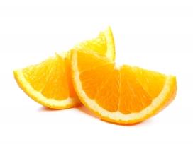切片的脐橙水果片