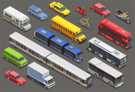 公共城市交通汽车素材