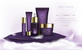 紫色护肤品素材下载