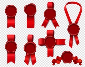 红色邮票色带密封节
