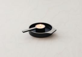 可用于蜡烛和食物的漆器器皿盘