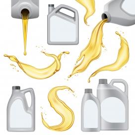 金黄色机油液态素材