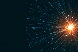 科学背景LED光纤数字技术网络风格