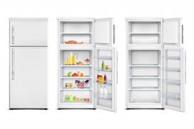 银白色打开的冰箱素材