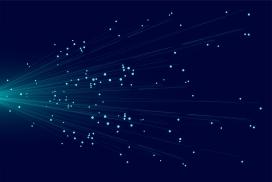 蓝线抽象粒子背景图