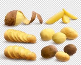 削皮的黄芯土豆素材