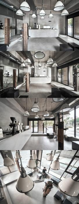 中国台湾100平米小空间的The Platypus咖啡店