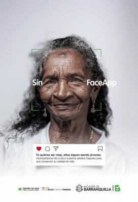 """无需改变时间流逝 的""""无脸创意""""应用程序-可以作为向人们展示当下人物的机会"""