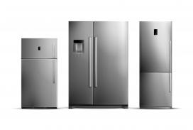 银灰色家用冰箱家电素材