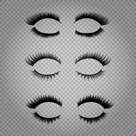 黑色女性假睫毛PNG图片素材