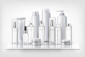 化妆品塑料玻璃瓶架子素材