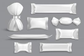 银白色铝箔糖果包装素材