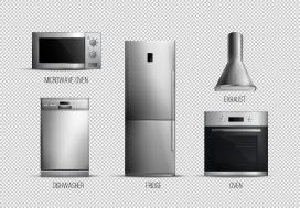 银白色厨房家电素材