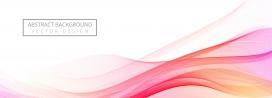 现代流动的彩色波浪横幅素材