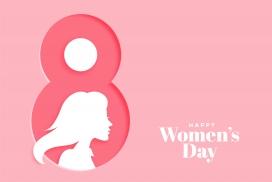 粉红色的三八妇女节素材