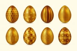 雕刻花纹的金色鸡蛋