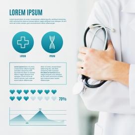 医疗信息图表与照片