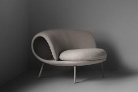 这款maki卷式椅子就像寿司一样花哨