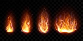 柴火垛火焰素材