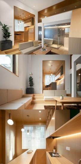 温暖的木质装饰小空间房屋