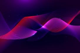 紫红色曲线波浪背景素材下载