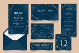 时尚酷炫带建设交叉线的邀请函卡片素材