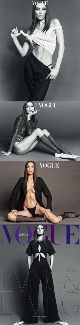 贝拉·哈迪德-《 Vogue》韩国版-性感,现代长腿的时尚故事