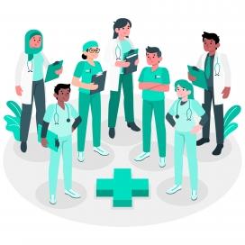 卫生专业医疗团队概念图