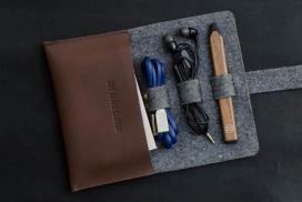 皮革毡制整理器-成人现代文具盒