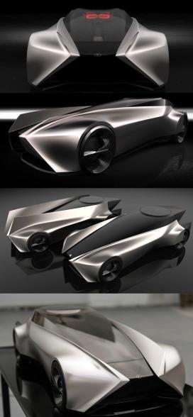受日本光原理启发的变形雷克萨斯概念车