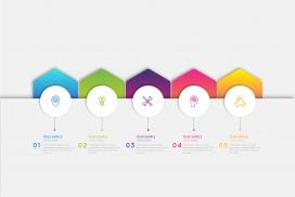 多彩3d光泽信息图表