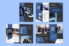 蓝色企业类宣传册素材