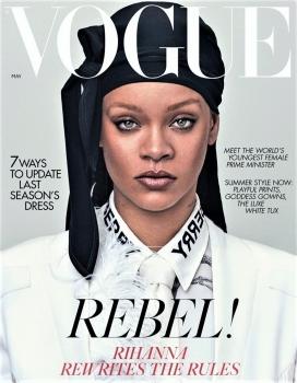 蕾哈娜重写了英国Durags时尚杂志