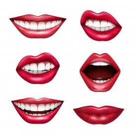 女性牙齿嘴巴嘴唇素材图