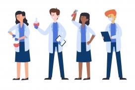 医生科学家卡通素材